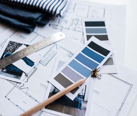 stock-photo-interior-designer-s-working-table-an-architectural-plan-of-the-house-a-color-palette-furniture-316095392